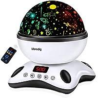 Moredig - Sternenhimmel Projektor Lampe, Musik Nachtlicht Lampe 360° Rotation + 12 Beruhigende Musik + 8 Romantische...