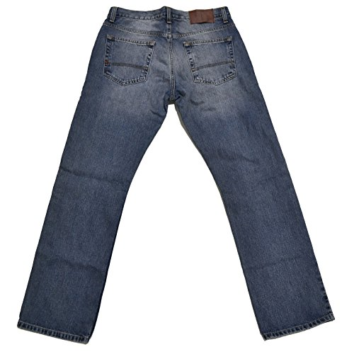 Tommy Hilfiger Mens Relaxed Fit Jeans (Medium Stonewash, 36x34)