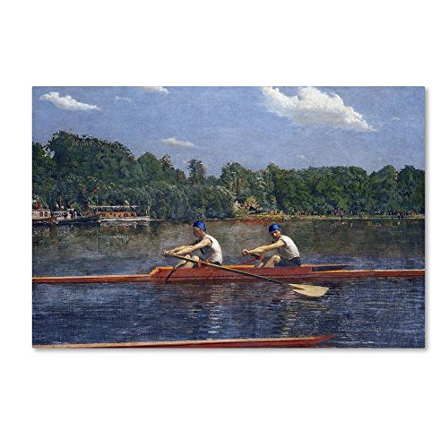 The Biglin Brothers Racing by Thomas Eakins, 12x19-Inch Canvas Wall Art