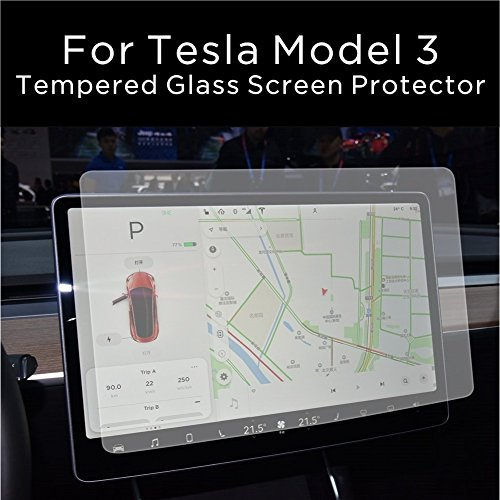 INNOSURE Tesla Model 3 Screen Protector Tempered Glass (9H) for Navigation protection Anti-glare (Matte) by INNOSURE