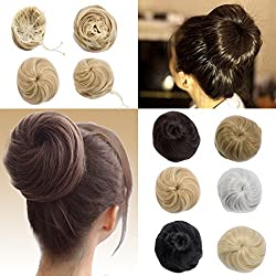 Hair Bun Extension with Elatsic Drawstring Claw Comb Clip in Ponytail Messy Chignon Updo Ponytail Scrunchie Donut