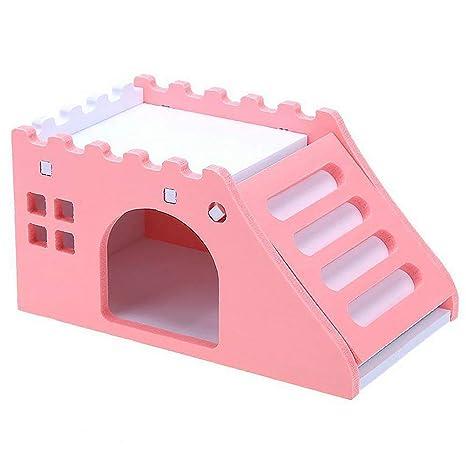 Morehappy7 - Hámster para Mascotas, Juguete para Ejercicio, diseño de cobaya, Castillo de