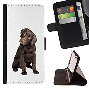 Stuss Case / Funda Carcasa PU de Cuero - Chocolate Labrador Retriever Puppy Dog - MOTOROLA MOTO X PLAY XT1562