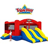 Blast Zone Triple Play Moonwalk Double Slide Combo Bouncer
