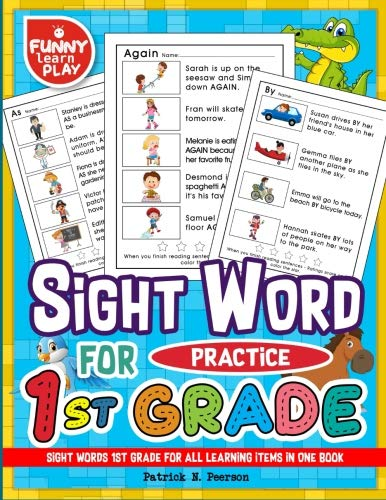 Sight Words 1st Grade for All Learning Items in One Book: Sight Words Grade 1 for Easing Up Learning for Kids & Students (Sight Word Books) (Volume ()