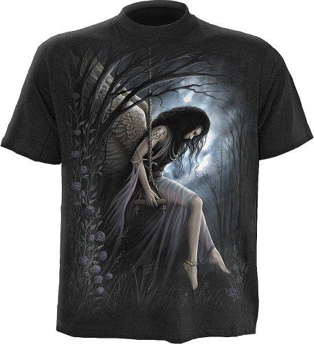 Spiral - Mens - ANGEL LAMENT - T-Shirt Black - XL (Angel Tombstone)