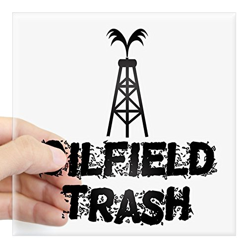 CafePress Oilfield Trash Sticker Square Bumper Sticker Car Decal, 3