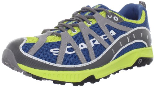 Scarpa Men's Spark Trail Running Shoe,Ocean/Lime,44 EU/10.5 M - Planet Headquarters Blue
