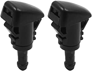 X AUTOHAUX 2pcs Black Plastic Front Windshield Wiper Nozzles 86636FG051 for Subaru Impreza 2008-2014
