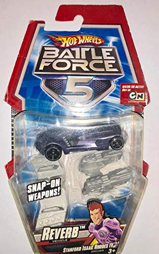 Hot Wheels Battle FORCE 5 Reverb Stanford Issac Rhodes IV Snap on Weapons