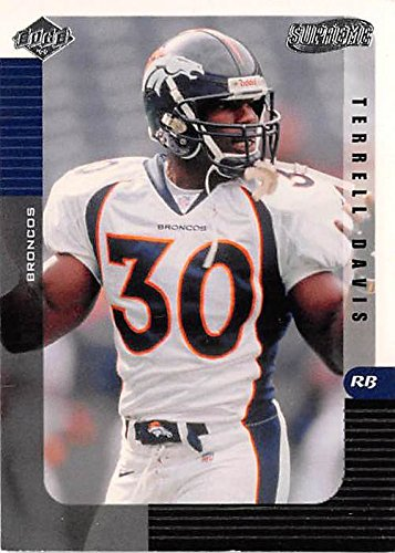 quality design 8d016 6df41 Terrell Davis football card (Denver Broncos Super Bowl ...