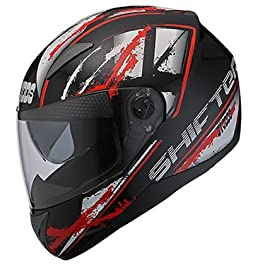 Studds SHIFTER D5 Decor Full Face Helmet (Black and Red, Large)