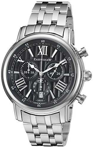 Thomas Earnshaw Men's 'Longcase 43' Swiss Quartz Stainless Steel Dress Watch (Model: ES-0016-11)