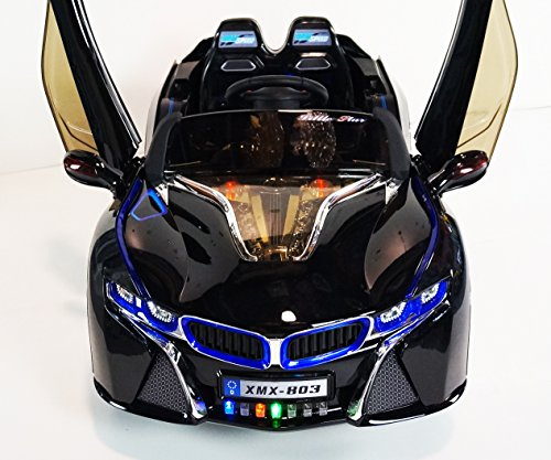 Style BMW I8 12v Ride on Car for Kids with LED Wheels,Music,