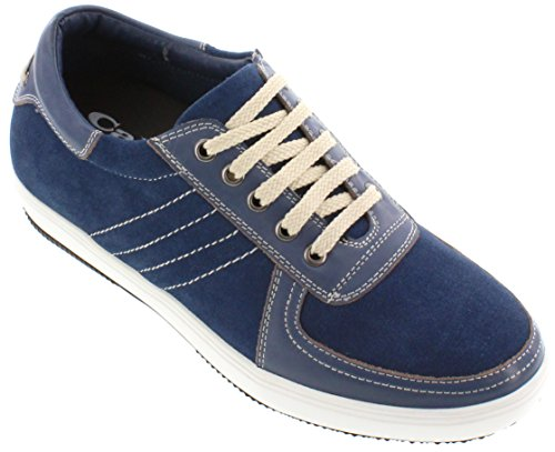 Sneakers 4 Inches Men 2 Blue Leather CALTO t7HqX8