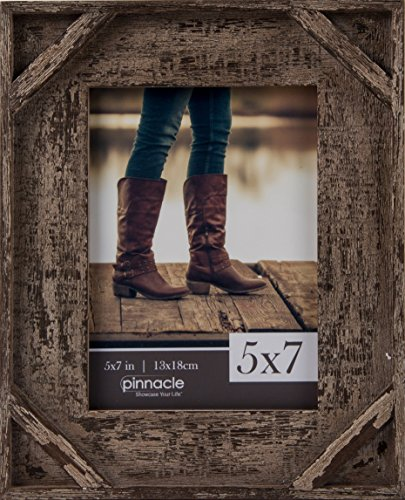 Barnwood Corner (Pinnacle 5x7 Barnwood with Corner Tabletop Picture Frame)