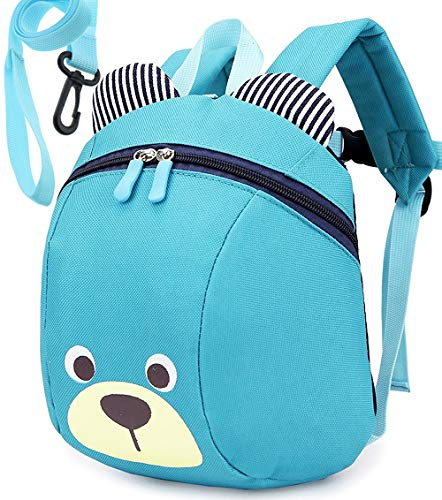 Kids Children Small Toddler Backpack Safety Harness Bear for Boys Under 3 Years (Toddler Back With Leash)