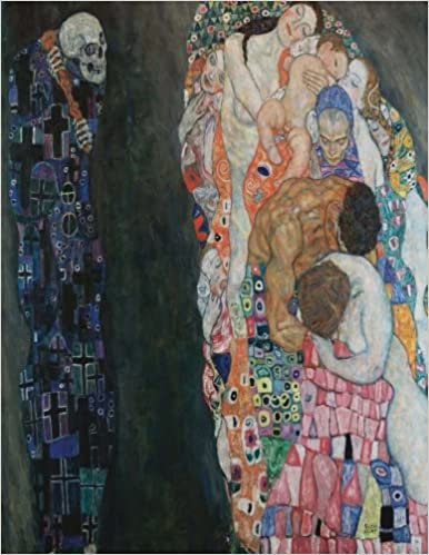 Death and Life, Gustav Klimt. Blank journal: 150 blank pages, 8, 5x11 inch (21.59 x 27.94 cm) Soft cover