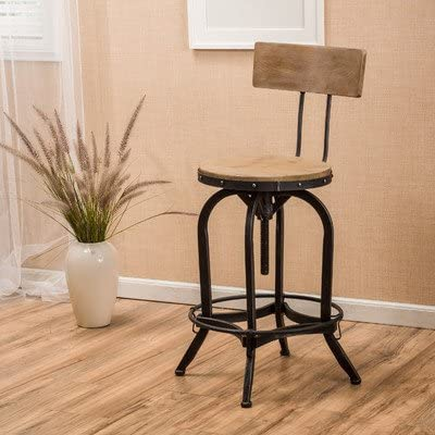 Oria Adjustable Height Swivel Bar Stool Comes With Backrest Amazon Ca Home Kitchen