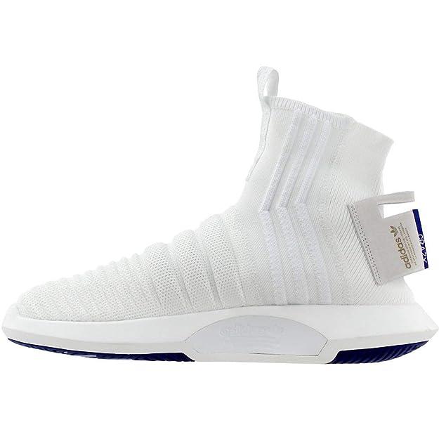 timeless design 04358 617cd Amazon.com   adidas Crazy 1 ADV Sock PK Running White Running White Real  Purple Shoes CQ1012 for Men   Road Running