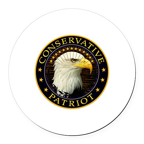 CafePress - Right Wing Conservative - Round Car Magnet, Magnetic Bumper Sticker (Bumper Wing Stickers Right)