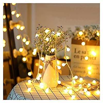 Hirosa LED String Lights 33 ft with 100 LEDs, Waterproof Decorative Lights for Bedroom, Patio, Partie sand Garden