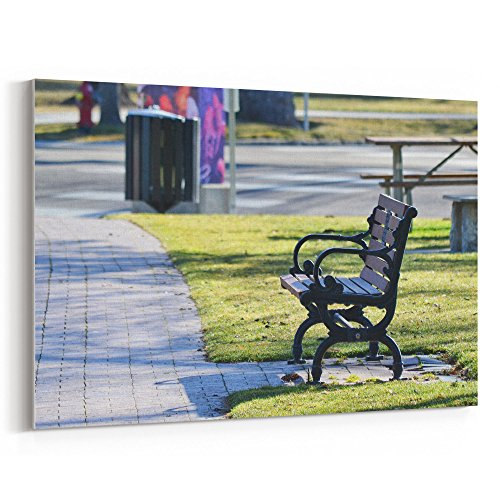 Westlake Art Park Bench - 12x18 Canvas Print Wall Art - Canvas Stretched Gallery Wrap Modern Picture Photography Artwork - Ready to Hang 12x18 Inch (2EB5-30C1A) from Westlake Art