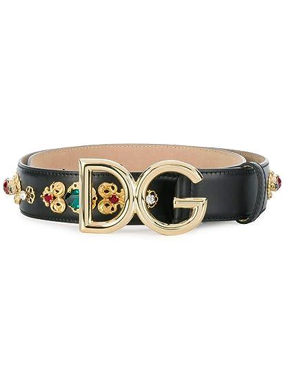 Dolce E Gabbana Femme BE1328AZ1078S070 Noir Cuir Ceinture  Amazon.fr ... a6193ee6b3c