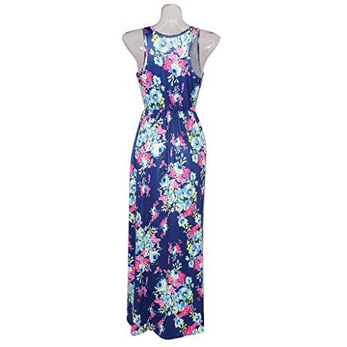 Mujeres Diferente para de Noche Fiesta Azul Vestido Color Club Casual para de Tamaño Pasarela Verano Moda Sharplace SqwtvPZq