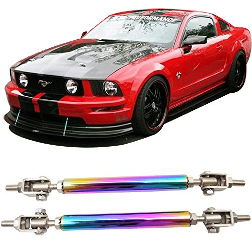 Strut Rods Fits Any Car | Neochrome Adjustable 5.5-8 Inch Bumper Lip Diffuser Splitter Rods by IKON MOTORSPORTS