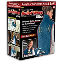Relief Wrap ULTRA Heat & Massage Therapy Wrap (Blue)