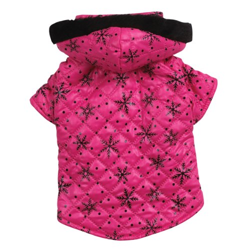 Zack and Zoey Polyester Winter Wonderland Dog Coat, Teacup, Pink, My Pet Supplies