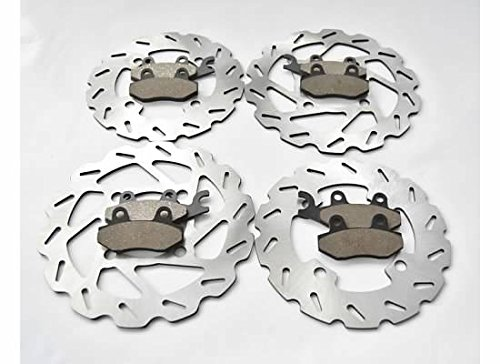 Yamaha YXR700 700 Rhino Front and Rear Sport Brake Rotors and Brake Pads by CycleATV