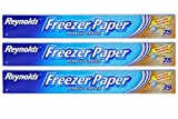 reynolds freezer wrap - Reynolds Freezer Paper Plastic Coated 16 2/3 yds x 18in Roll (75sq ft.) Pack of 3