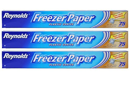 (Reynolds Freezer Paper Plastic Coated 16 2/3 yds x 18in Roll (75sq ft.) Pack of 3)