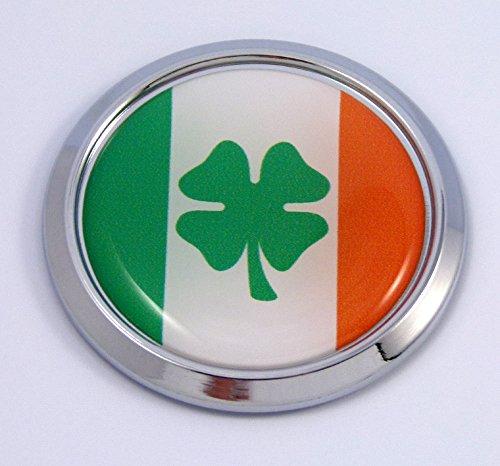 Car Chrome Decals Ireland Irish Round Flag Emblem bumper Sticker bezel ()