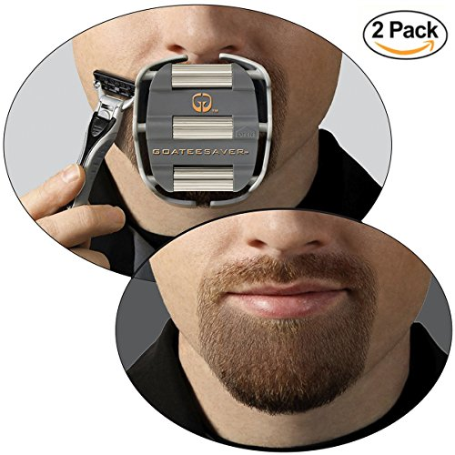 Guide Combo Pack - My Perfect Goatee, Men's Goatee Shaving Template, 2 Unit Combo Pack