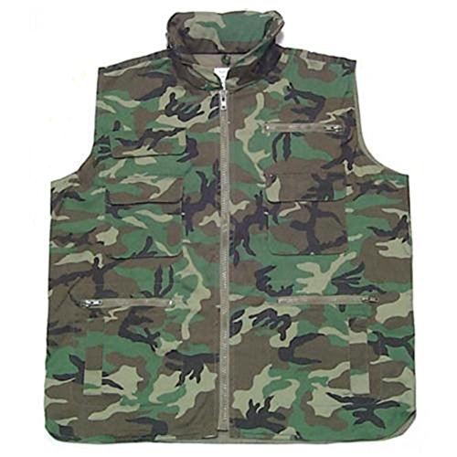 Woodland Ranger Vest - NEW Military Army Hunting Woodland Camo RANGER VEST LARGE