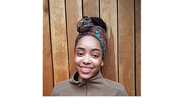 Amazon.com: Headwrap / african print headwrap/ turban / Headtie / ankara headscarf / African headtie / wax print headwrap / headscarf - Turquoise and ...