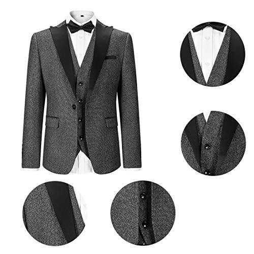 Business Classique Sliktaa Pantalon De Couleurs Fit Bal En 6 Formel Slim Smoking Gilet Pièces Homme Gris Et 3 Costume Mariage Veste xwprq0P1w