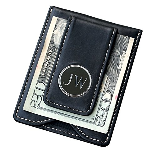 Money Clip Engraved Gifts (Engraved Personalized Christmas, Valentines, Fathers Day Gifts for Men Him - Husband - Black Money Clip Wallet Combo)