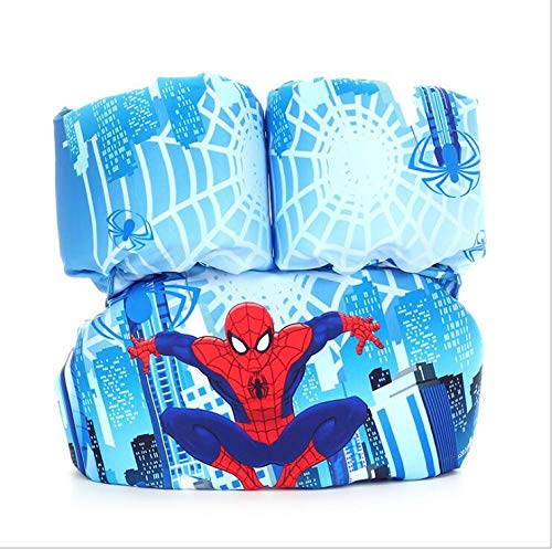 MYSportsworld Children's Life Jacket Buoyancy Vest Baby Floating Suit Swimming Arm Foam Lifebuoy Sleeve (Spiderman)