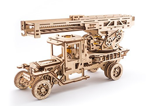 UGEARS Wooden 3D Fire Truck Model Kit - Lever Operated for sale  Delivered anywhere in USA