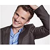 Freddie Stroma Looking Handsome Hand on Head Leaning Left Large Smile on Face 8 x 10 Inch Photo