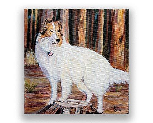 - Rough Collie Dog Fine Art Print Giclee for your Americana Farmhouse Decor Gifts Idea, mat option