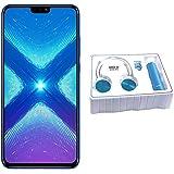 Honor 8X Dual SIM - 128GB, 4GB RAM, 4G LTE, Blue with Gift Set
