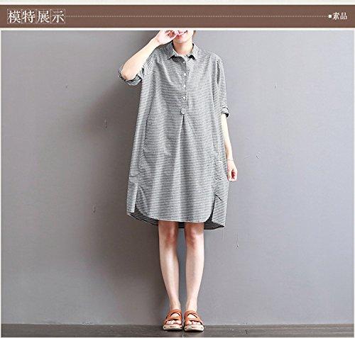 mittlerer länge streifen fünf cent sleeve shirt kleid