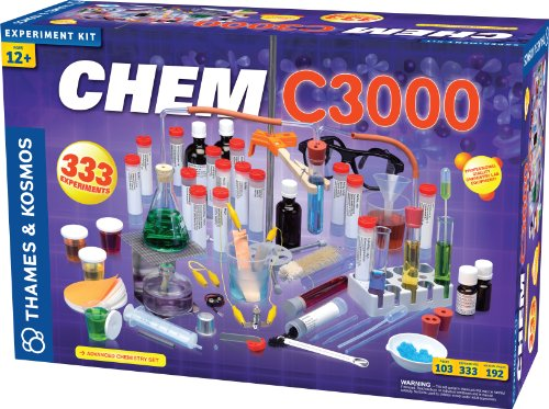 Thames & Kosmos Chem C3000 (V 2.0) Chemistry Set with 333 Experiments & 192 Page...