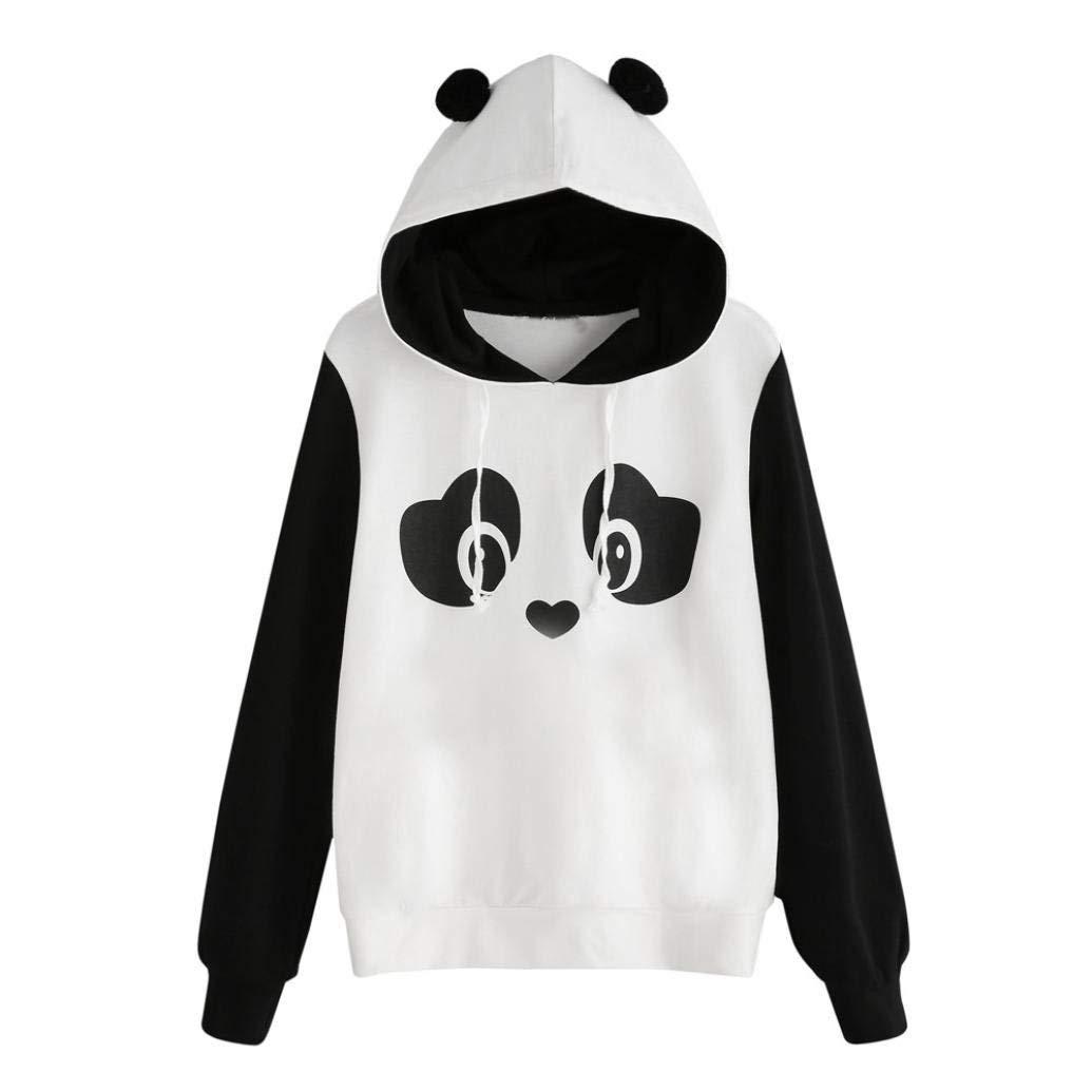 cheap for discount 32da7 29b40 ROTE Womens Long Sleeve Cute Panda Print Fleece Pullover ...