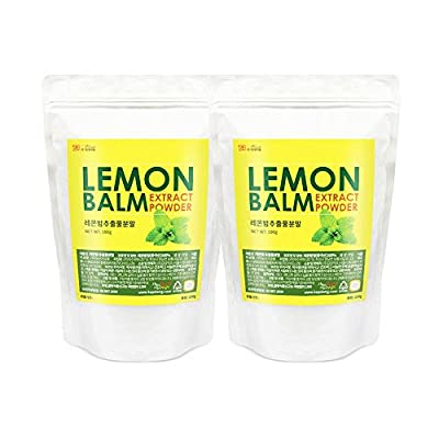 Lemon Balm Extract Powder 2Pack Natural 100% Health Diet Tea Vitamin C Insomnia Digestion Reduces Anxiety Total 200g
